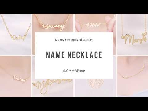 Personalized Sterling Silver Name Necklaces - The Gift For Baby Girls's Mother