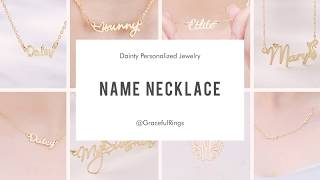 Personalized Sterling Silver Name Necklaces   The Gift For Baby Girls's Mother