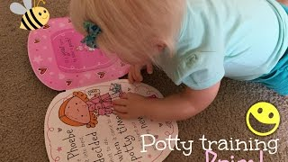 Potty training reborn toddler Prim!