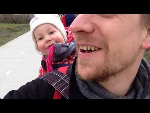 Baby laughing while her dad tries to make her say 'daddy'