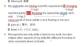 高中英文 - 龍騰版 - Book 2 Lesson 6 Life in Space 課文講解 Paragraph 1