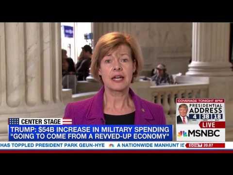 MSNBC: Senator Baldwin Ahead of President Trump