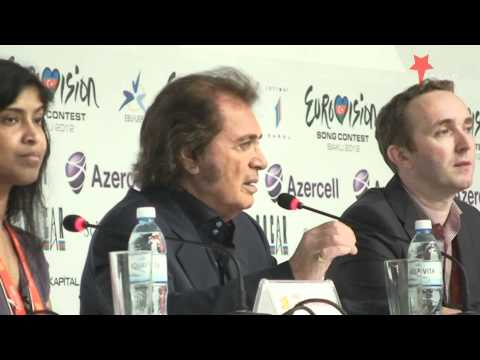 Persconferentie Engelbert Humperdinck (United Kingdom Press Conference) Eurovision 2012 Baku.wmv