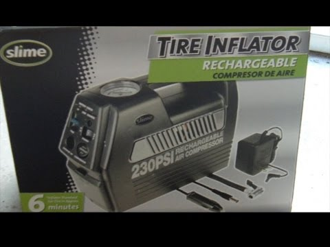 Slime 230 PSI Portable Tire Inflator and Air Compressor Unboxing and Review
