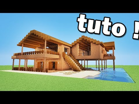 minecraft maison en bois de luxe tutoriel youtube. Black Bedroom Furniture Sets. Home Design Ideas