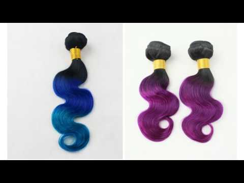 Qingdao Goldleaf human hair products display