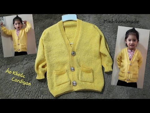 PHẦN 1- Cách Đan Áo Khoác Dáng Dài - Cardigan, Đan ÁoTừ Dưới Lên / How To Knit Cardigan Jacket (P1)
