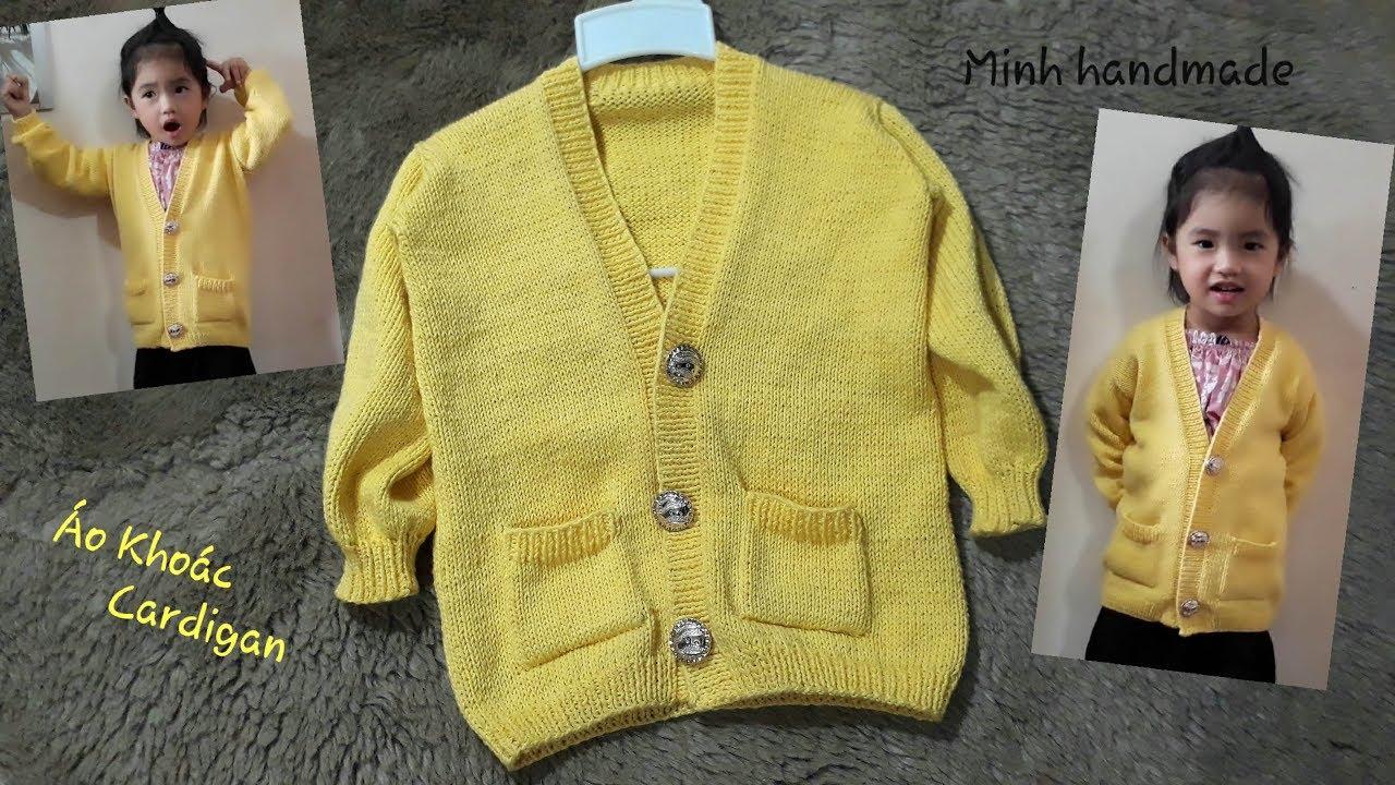 PHẦN 1- Cách Đan Áo Khoác Dáng Dài – Cardigan, Đan ÁoTừ Dưới Lên / How To Knit Cardigan Jacket (P1)
