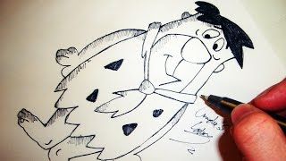 Como Desenhar Fred Flintstone [The Flintstones] - (How to Draw Fred) - SLAY DESENHOS #54