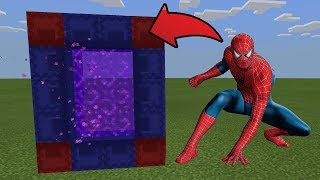 How To Make a Portal to the Spiderman Dimension in MCPE (Minecraft PE)