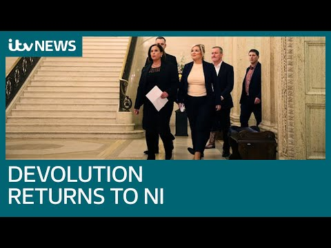 Devolved Government Returns To Northern Ireland After Three Years As Parties Agree Deal | ITV News