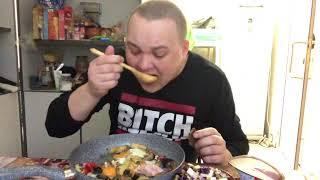 Vine Video ветчина в аптеке овощи гриль Ветчина консерва обзор и обжор MUKBANG Eating мукбанг