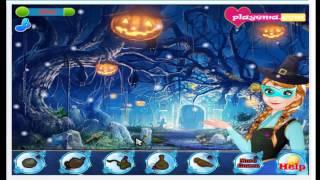 Frozen Hidden Halloween Cartoon Video Game For Kids