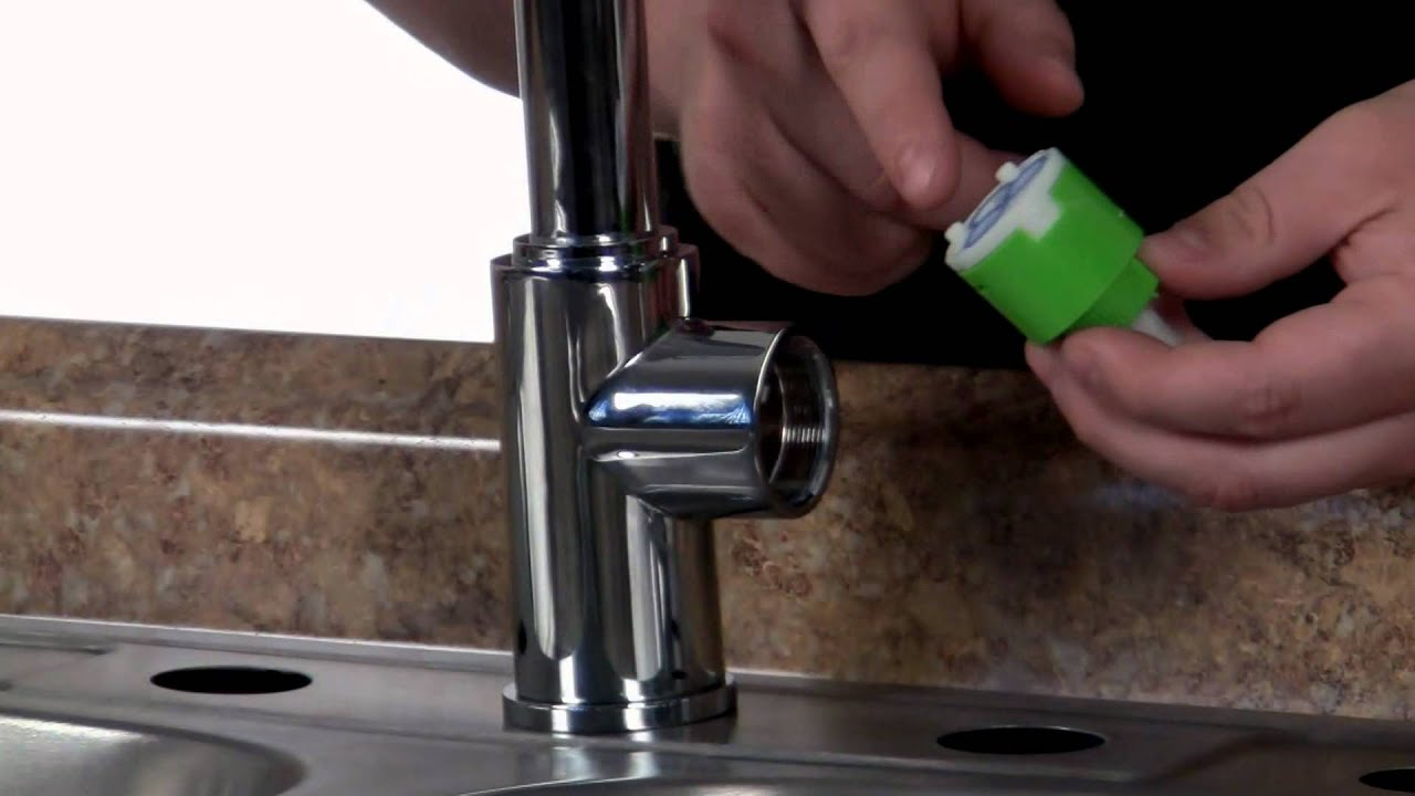 how to replace cartridge kingston brass ks8971dl kitchen faucet video