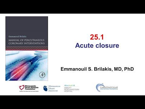 25.1 Manual of PCI - Acute vessel closure
