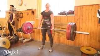 Тренировка 21.05.2014 Тяга (небольшая проходка 180 кг )
