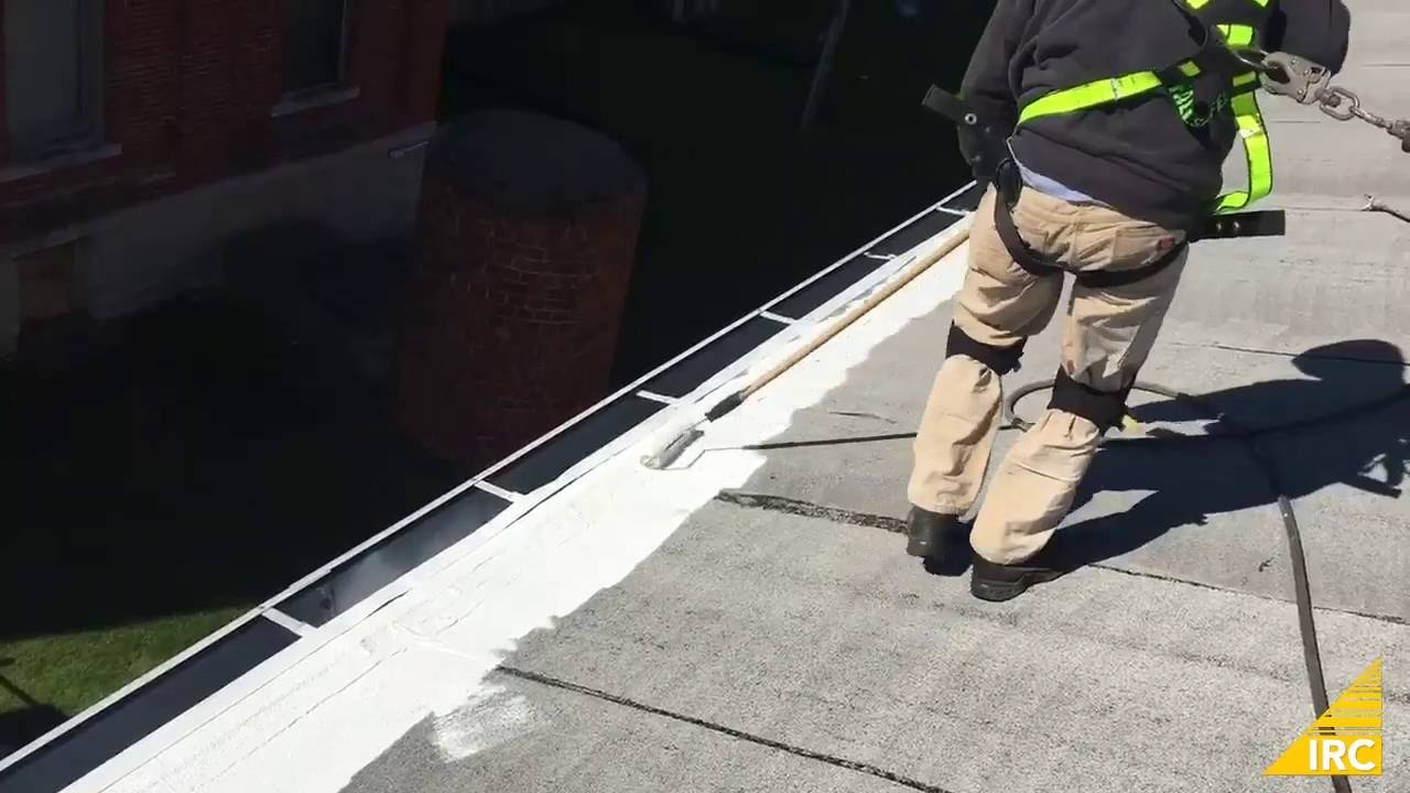 Silicone Coating Over Modified Bitumen Roof Application