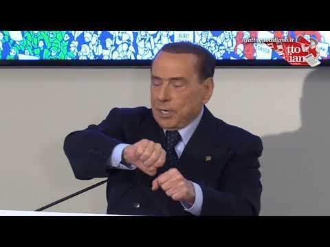 """La gaffe di Berlusconi: """"Ho portato le pensioni a mille lire…"""". Imbarazzo in sala"""