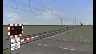 Animated Level Crossing Pack For RailWorks - A Test