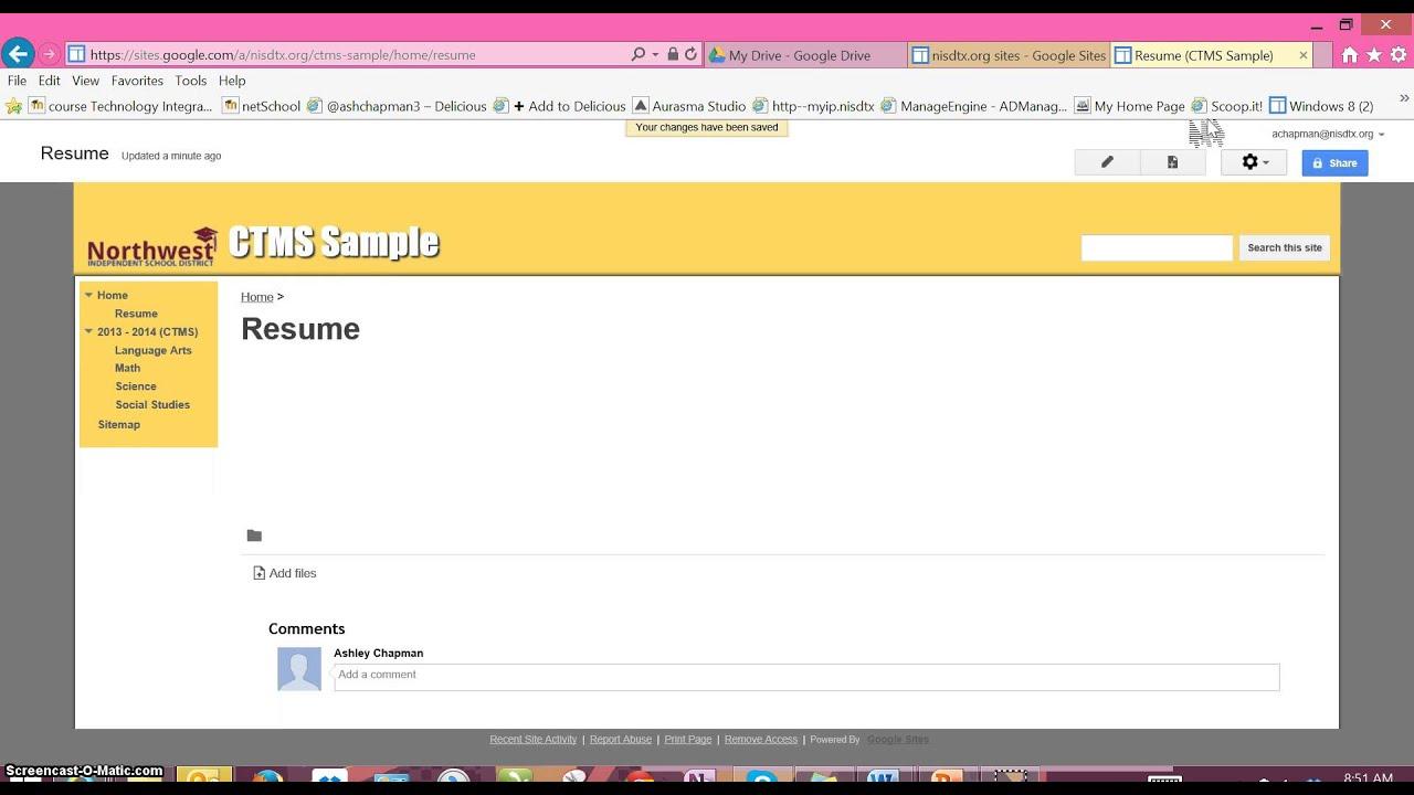 Adding A Resume To Your Eportfolio Youtube