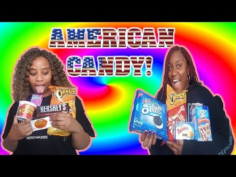 BRITISH GHANAIAN + JAMAICAN GIRLS TRY AMERICAN CANDY!!!