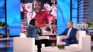 Ellen Surprises Viral College Cymbals Player