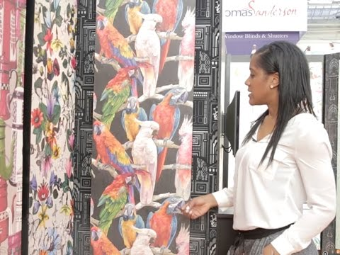 Ideal home show 2015 we love parrot themed wallpaper for Ideal home wallpaper