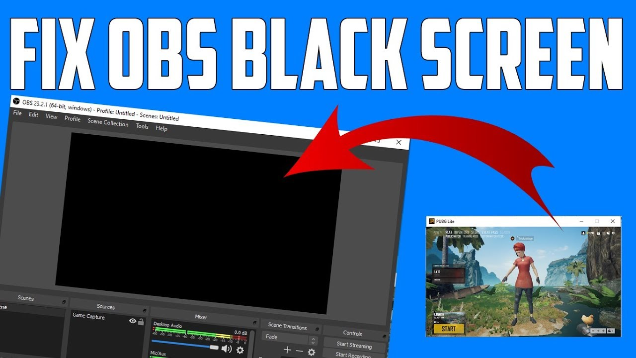 Obs Black Screen Game Capture