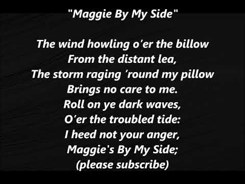 Maggie By My Side STEPHEN FOSTER LYRICS WORDS BEST TOP POPULAR May STEVEN SING ALONG SONGS