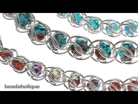 47ff0f606 How to Do Captured Bead Chain Maille - YouTube