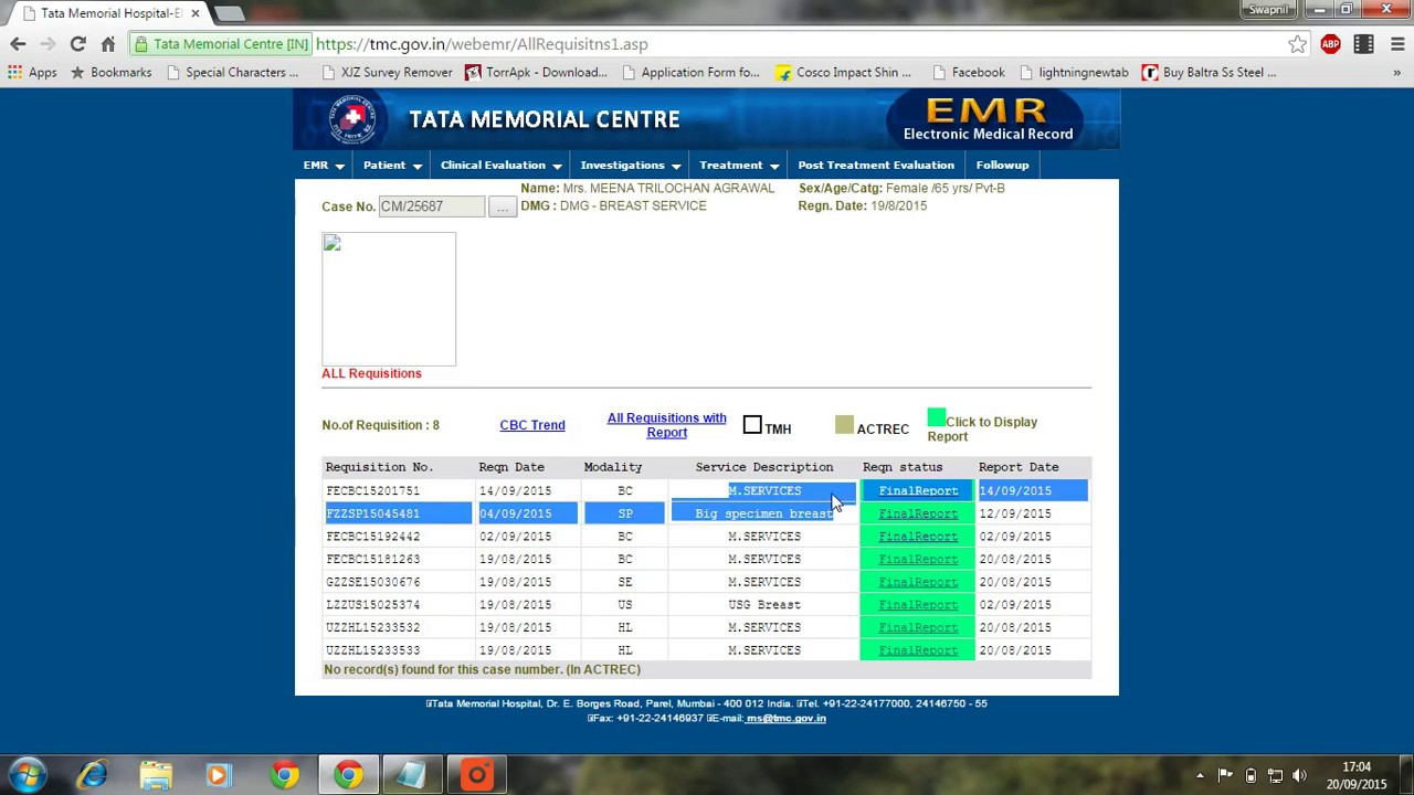Tata Memorial Online Report HD l Full Tutorial + Step By Step Instructions  l Updated 2019