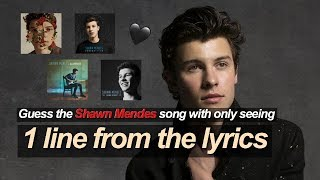 Guess the SHAWN MENDES song with only seeing 1 LINE from the lyrics