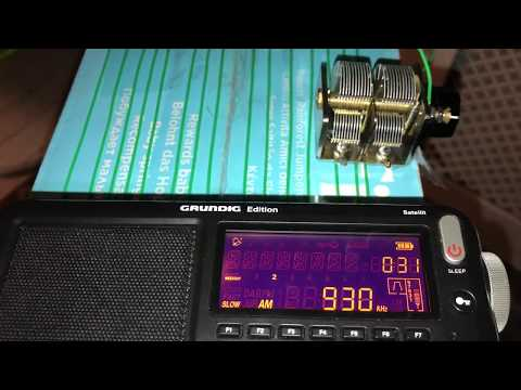 CJYQ 930 kHz, St. John's, copied indoors with Eton Satellit and homebrew MW loop