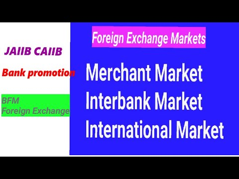 Merchant Market, Interbank Market & International Markets