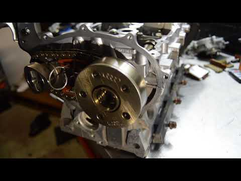 how to set timing chain on vw/audi 2.0t cylinder head