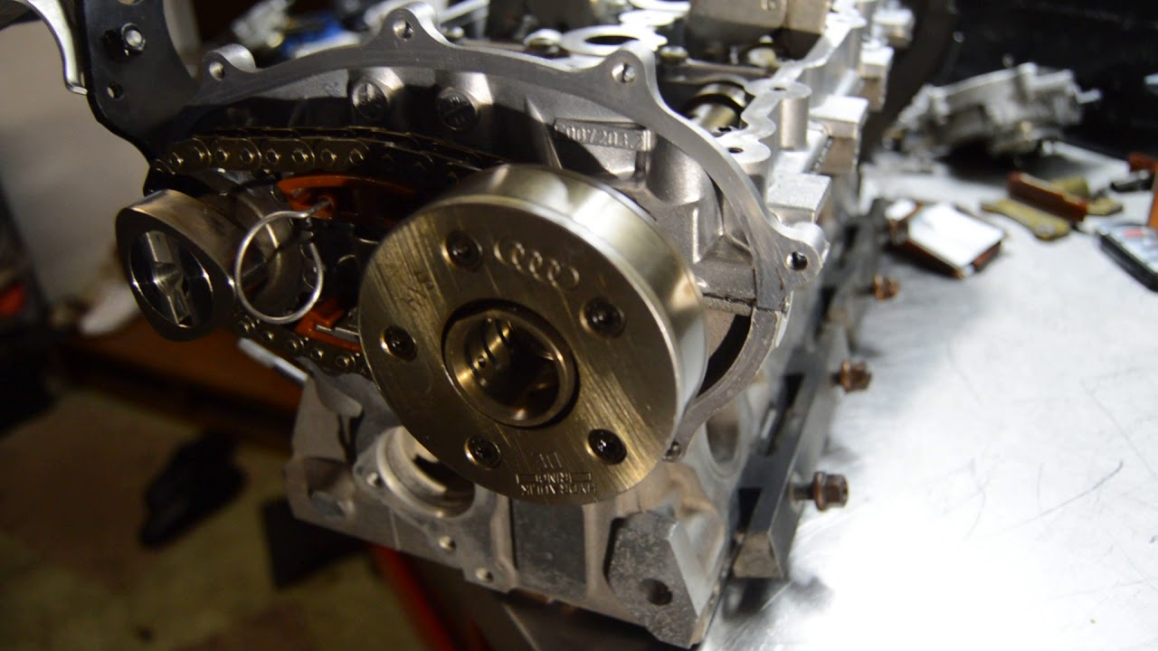 how to set timing chain on vw audi 2 0t cylinder head [ 1280 x 720 Pixel ]