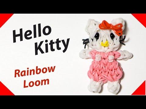 HELLO KITTY (Хэллоу Китти) из резинок Rainbow Loom Bands. Урок 154 скачать