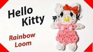 HELLO KITTY (Хэллоу Китти) из резинок Rainbow Loom Bands. Урок 154