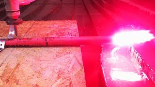 Lit Road Flare vs 60,000 PSI Waterjet