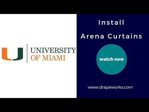 Florida Theatrical Curtain Arena Curtain Stage Curtain Install @ Univeristy of Miami velour