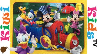 Disney Mickey Mouse, Minnie Mouse, Donald Duck, Daisy Duck, Pluto Puzzle | Kiwi Kids TV
