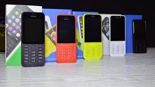 Nokia 215 - Nokia 220 - Nokia 225 - Nokia 230 - Nokia 515 Какая разница?