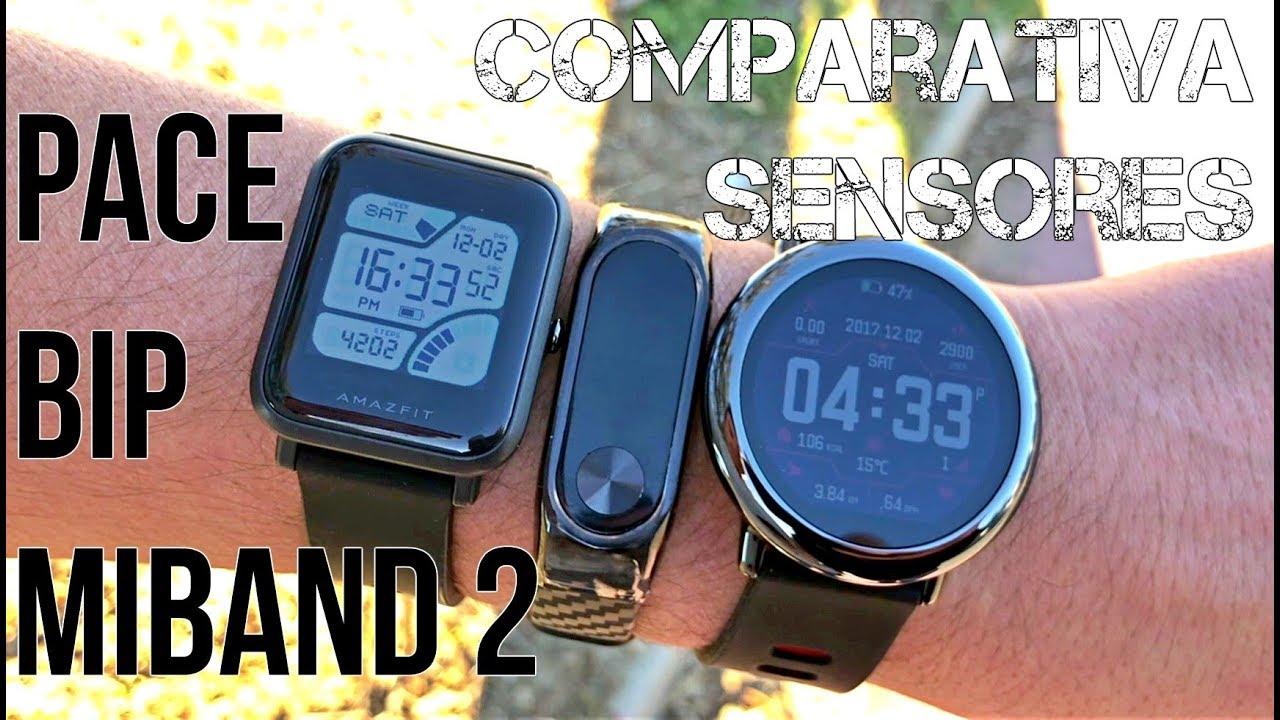 Comparativa Sensores Xiaomi Miband 2 Amazfit Bip