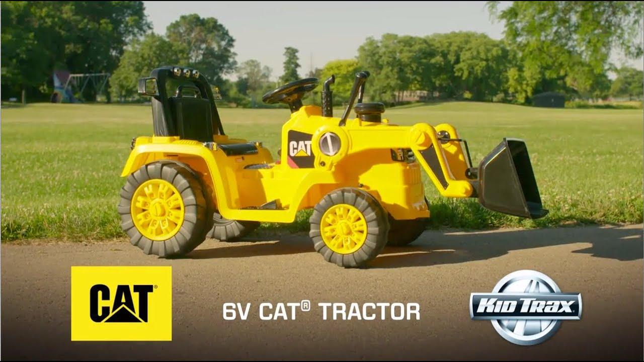 111f3ff9f7bf Kid Trax 6-Volt CAT Bulldozer Ride-on Toy Car - YouTube