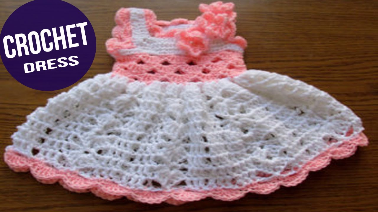 Vestidos para bebes tejidos a ganchillo