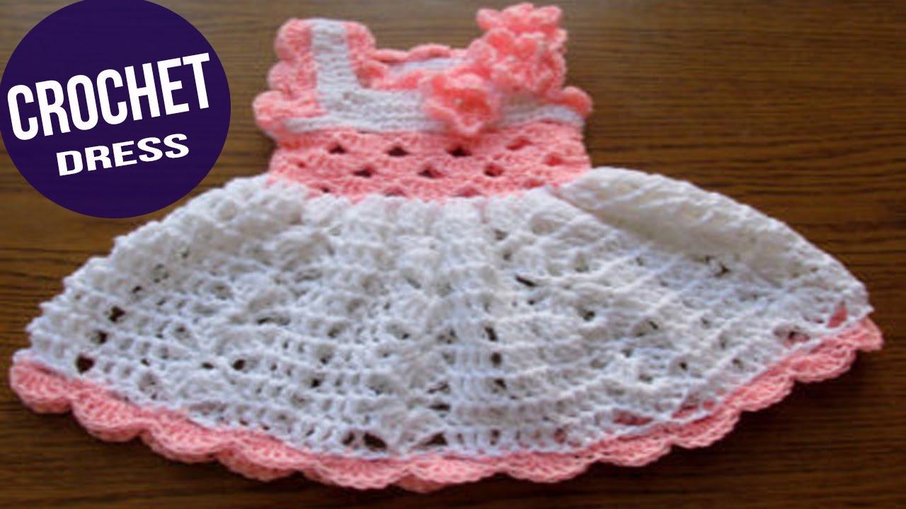 Vestidos de bebe tejidos en crochet o ganchillo parte 4 - Dibujos de ganchillo ...