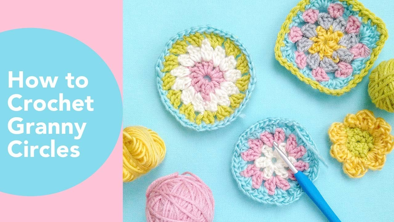 How To Crochet A Granny Circle Changing Colors In Granny Square