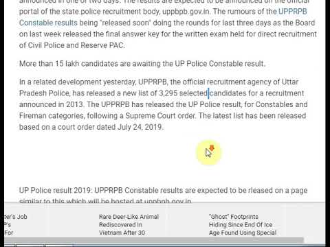 UP Police Result For Constable Exam Expected Anytime Soon @ Uppbpb.gov.in