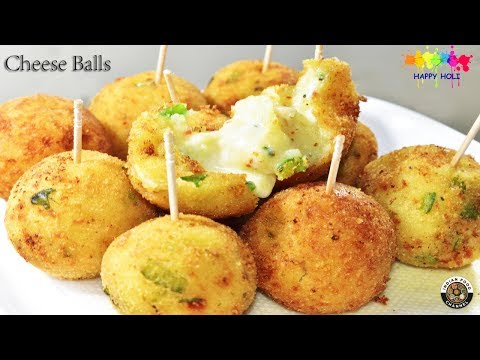 Cheese Balls Recipe-Cheesy Snacks-Quick & Easy Cheese Balls-Holi Special Recipe-Party Recipe