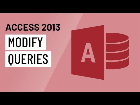 Access 2013: More Query Design Options